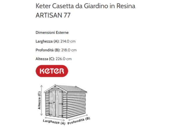 240000 dimensioni keter cassetta artisan77